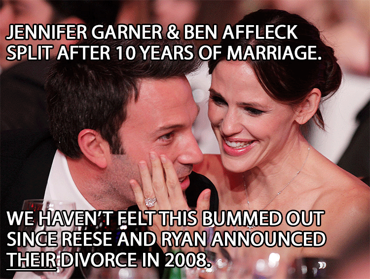 Cute picture of Jen Garner and Ben Affleck