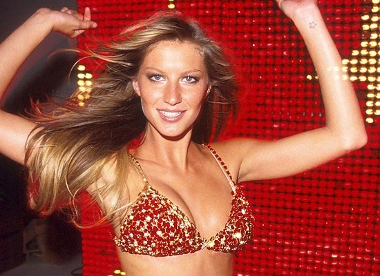 picture of Gisele in bedazzled bra